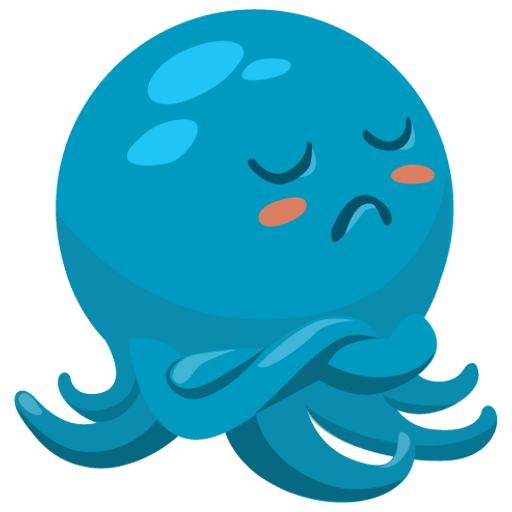 Octo the angry Octopus iMessage stickers messages sticker-9