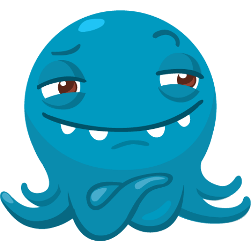 Octo the angry Octopus iMessage stickers messages sticker-10