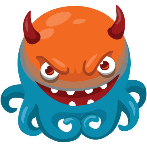 Octo the angry Octopus iMessage stickers messages sticker-0