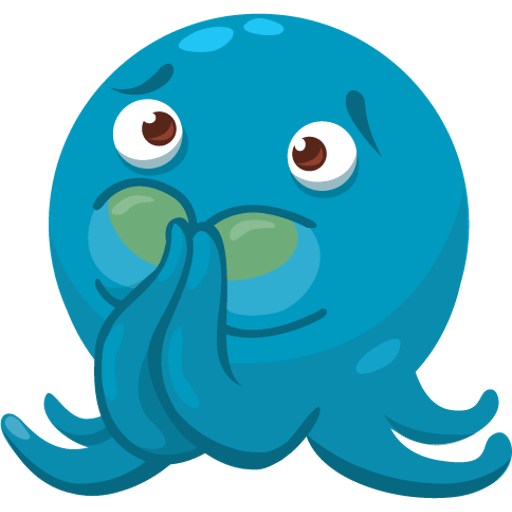 Octo the angry Octopus iMessage stickers messages sticker-11