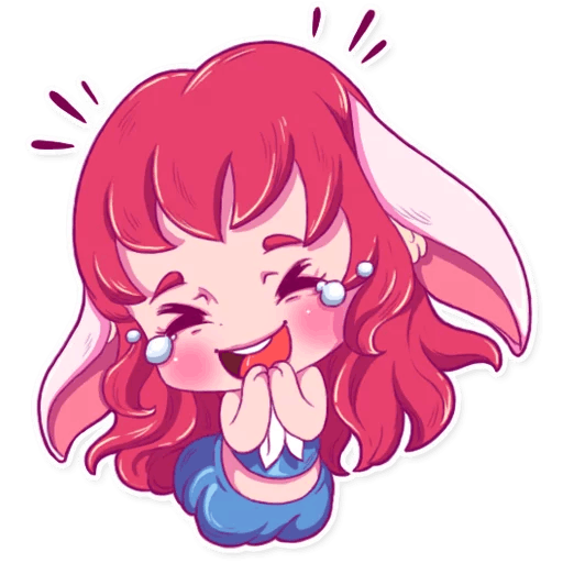 Cute Bunny iMessage stickers messages sticker-1