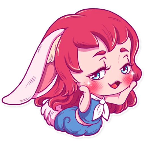 Cute Bunny iMessage stickers messages sticker-8