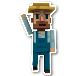 Blocky Farm messages sticker-4