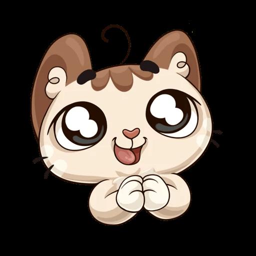 Oscar the cute kitten iMessage stickers messages sticker-10