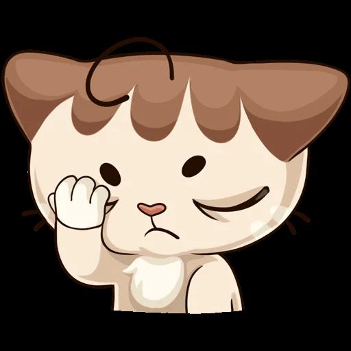 Oscar the cute kitten iMessage stickers messages sticker-7