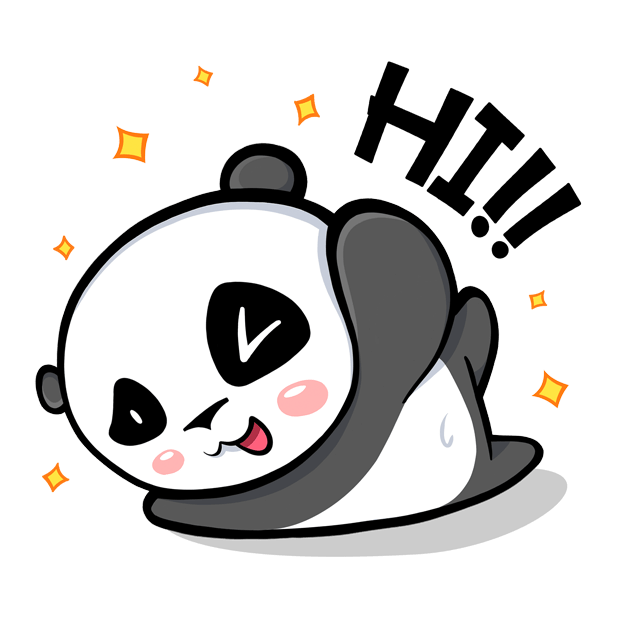 The CHiCHi Panda Sticker Pack by Cute Panda Town messages sticker-0