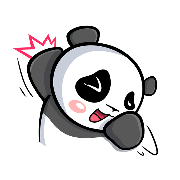 The CHiCHi Panda Sticker Pack by Cute Panda Town messages sticker-1