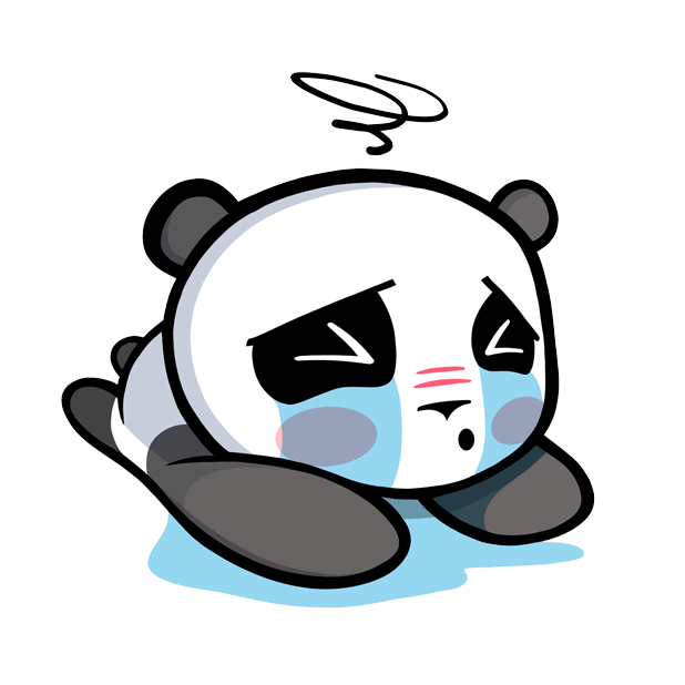 The CHiCHi Panda Sticker Pack by Cute Panda Town messages sticker-8