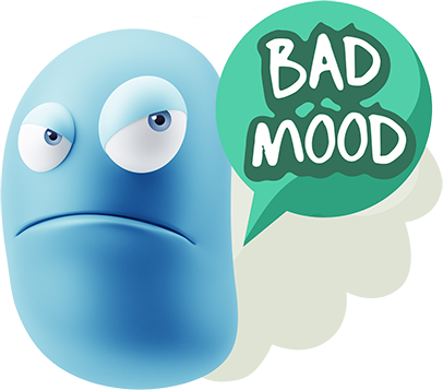 3D Blue Smiley Stickers messages sticker-4