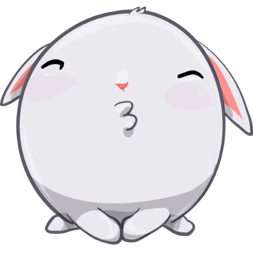 BunnyBun the iMessage sticker pack messages sticker-7