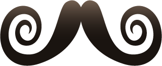 Moustache Photobomb Stickers for November messages sticker-10