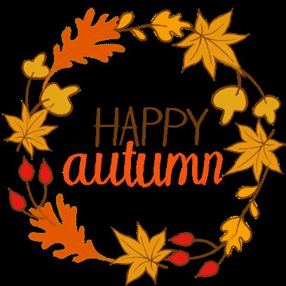 Happy Autumn Hand Drawn Stickers messages sticker-3
