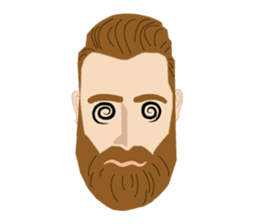 Bearded Hipster messages sticker-4