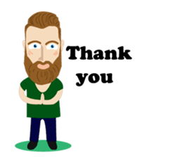 Bearded Hipster messages sticker-8