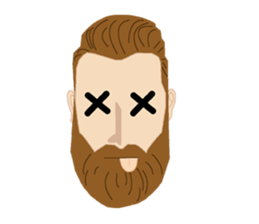Bearded Hipster messages sticker-6