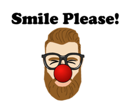 Bearded Hipster messages sticker-10