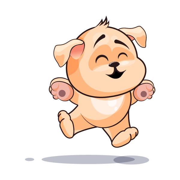Adorable Dog Emoji Stickers messages sticker-0
