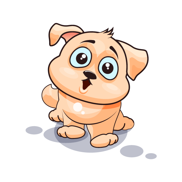 Adorable Dog Emoji Stickers messages sticker-6