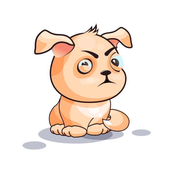 Adorable Dog Emoji Stickers messages sticker-2