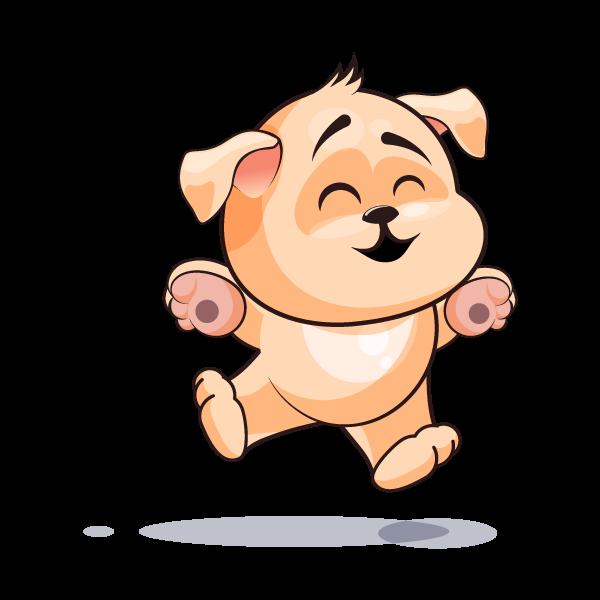 Adorable Dog Emoji Stickers messages sticker-0