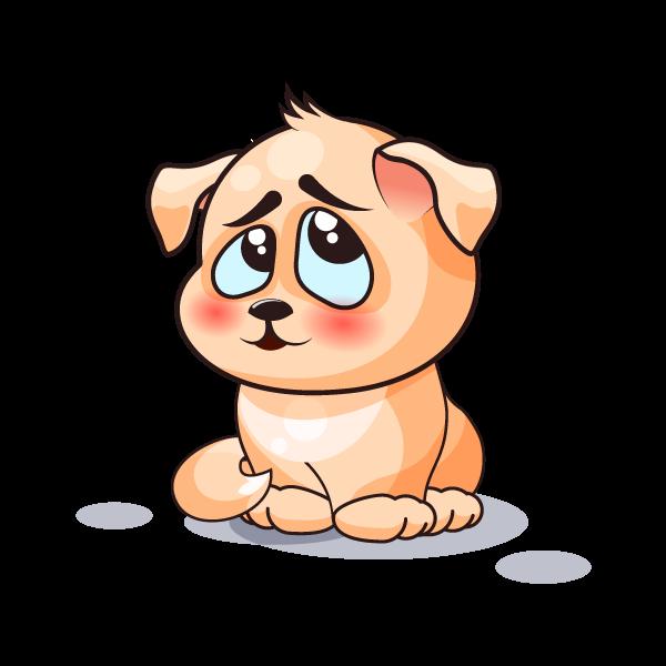 Adorable Dog Emoji Stickers messages sticker-4