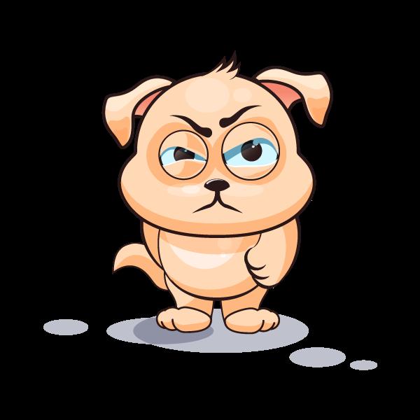 Adorable Dog Emoji Stickers messages sticker-7