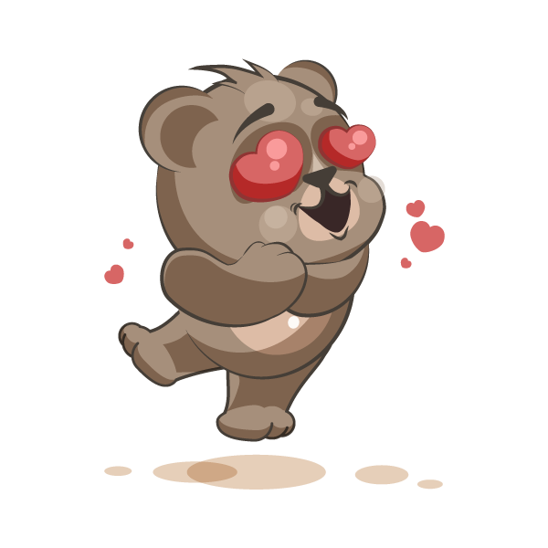 Adorable Bear Emoji Stickers messages sticker-0