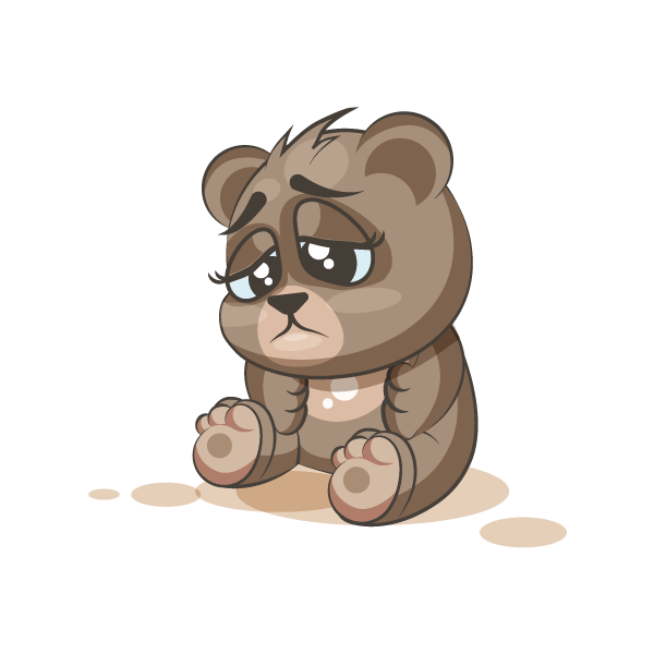 Adorable Bear Emoji Stickers messages sticker-3