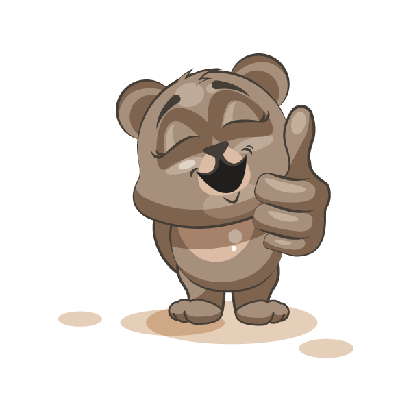Adorable Bear Emoji Stickers messages sticker-7