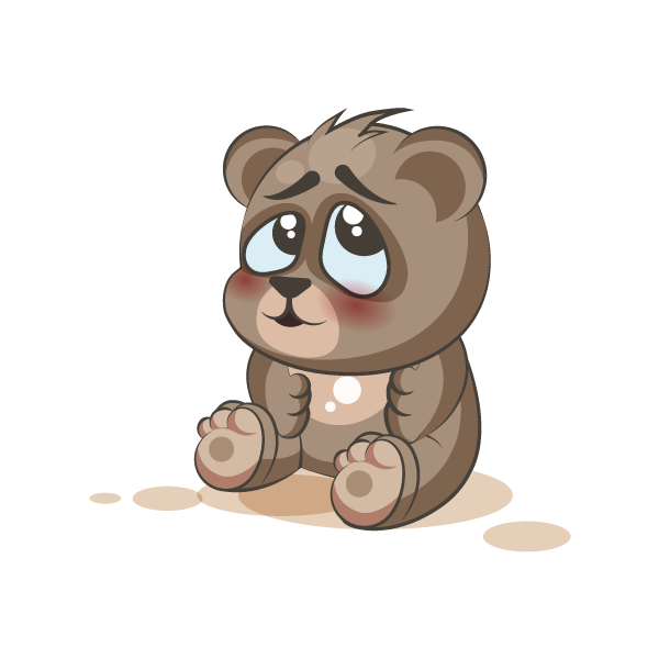 Adorable Bear Emoji Stickers messages sticker-2