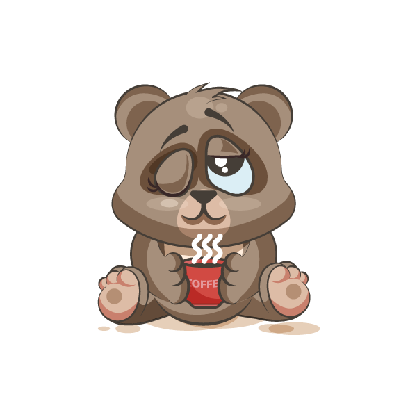 Adorable Bear Emoji Stickers messages sticker-10