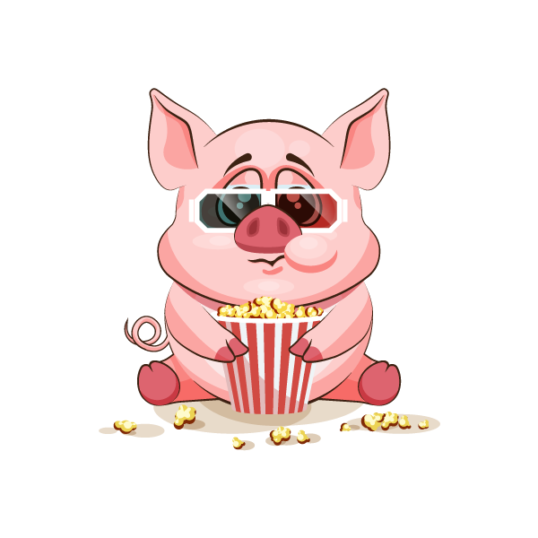 Adorable Pig Emoji Stickers messages sticker-0