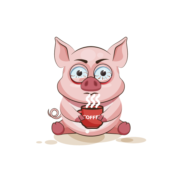 Adorable Pig Emoji Stickers messages sticker-7