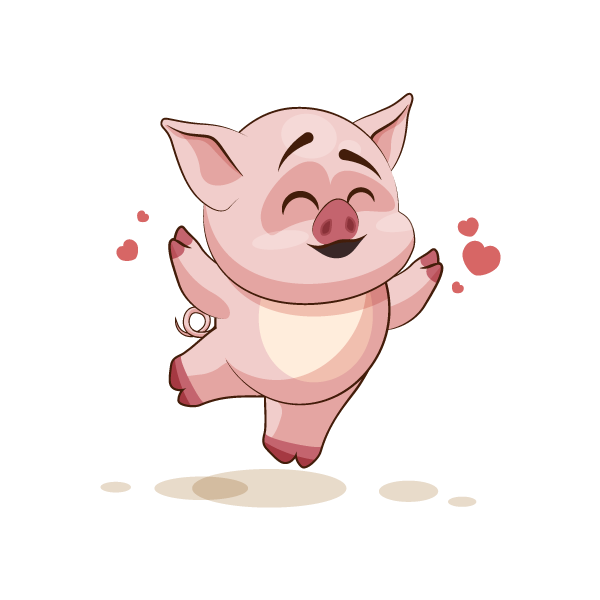 Adorable Pig Emoji Stickers messages sticker-6