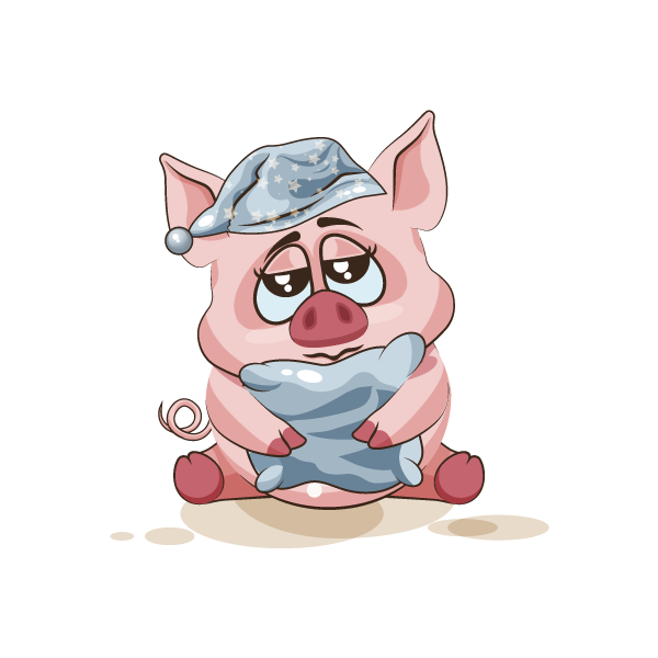 Adorable Pig Emoji Stickers messages sticker-11