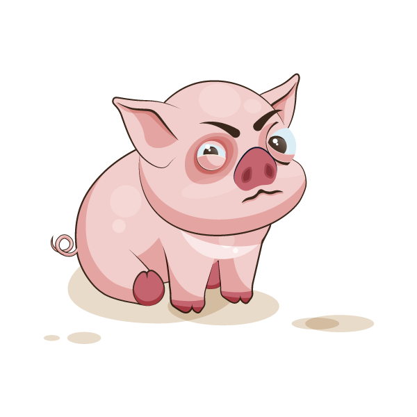 Adorable Pig Emoji Stickers messages sticker-3