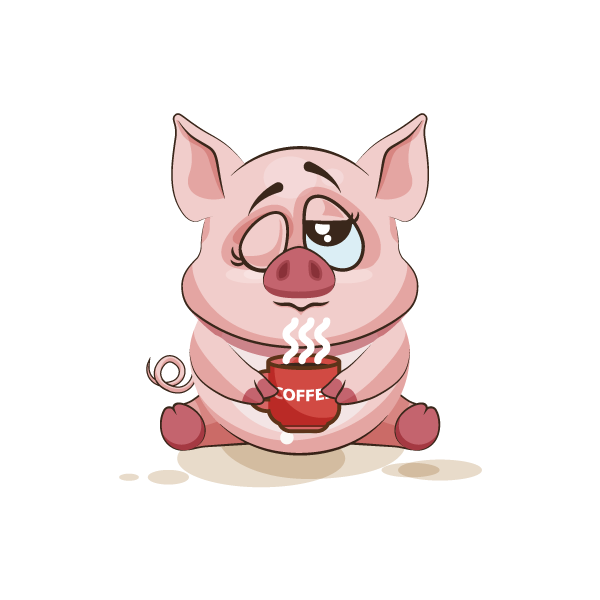 Adorable Pig Emoji Stickers messages sticker-10