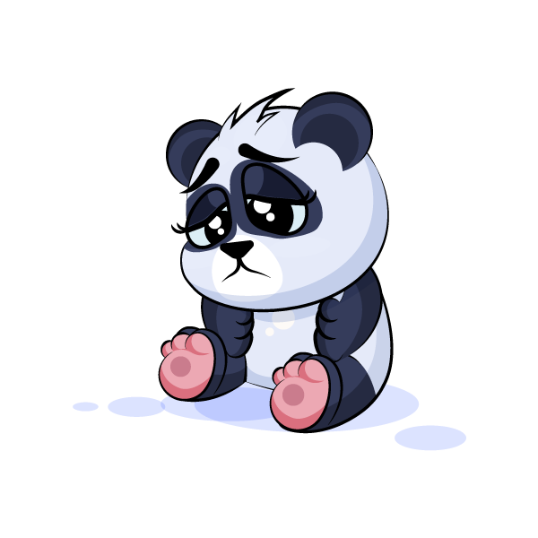 Adorable Panda Emoji Stickers messages sticker-3