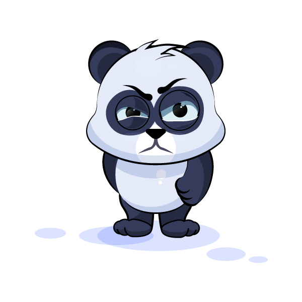 Adorable Panda Emoji Stickers messages sticker-5
