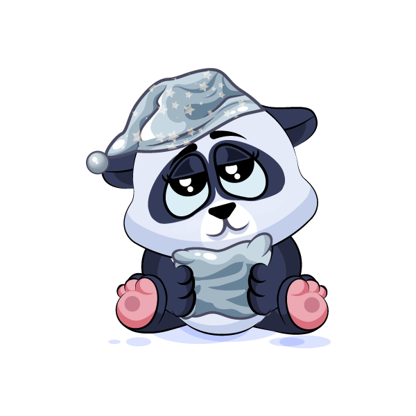 Adorable Panda Emoji Stickers messages sticker-8