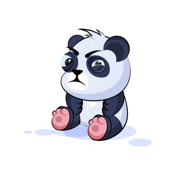Adorable Panda Emoji Stickers messages sticker-1