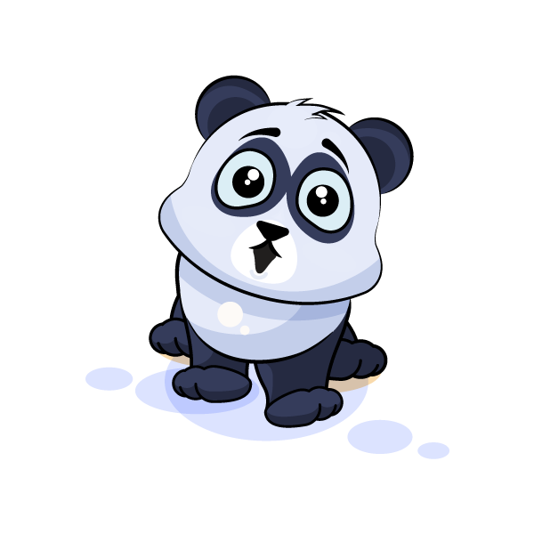 Adorable Panda Emoji Stickers messages sticker-6
