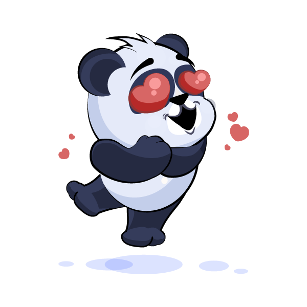 Adorable Panda Emoji Stickers messages sticker-0