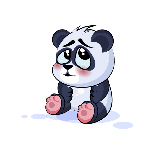 Adorable Panda Emoji Stickers messages sticker-2