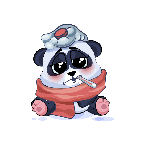 Adorable Panda Emoji Stickers messages sticker-9