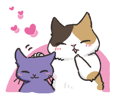 Black Cat and Calico Cat messages sticker-1