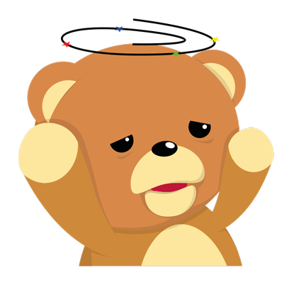 Cuddle Teddy Bear Stickers for iMessage messages sticker-6