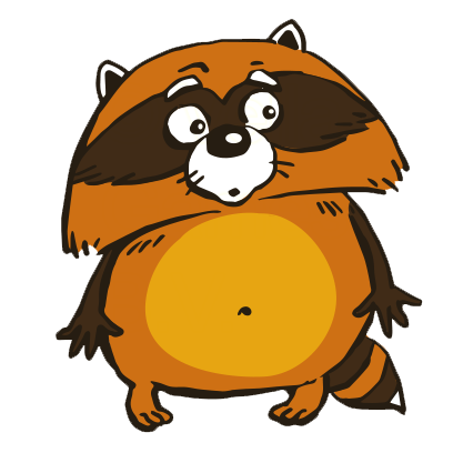 Crazy Raccoon Pet Stickers messages sticker-2