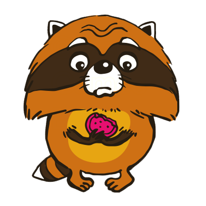 Crazy Raccoon Pet Stickers messages sticker-10