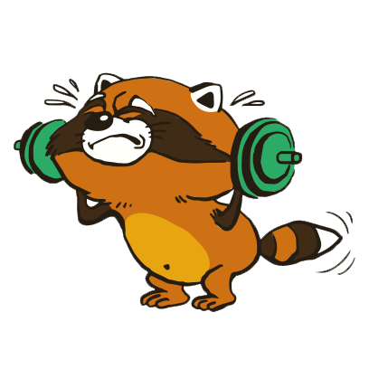 Crazy Raccoon Pet Stickers messages sticker-1